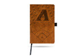 Arizona Diamondbacks Laser Engraved Brown Notepad With Elastic Band