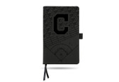 Cleveland Indians Laser Engraved Black Notepad With Elastic Band