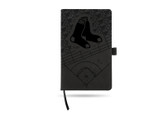 Boston Red Sox Laser Engraved Black Notepad With Elastic Band