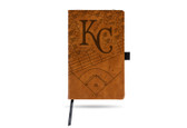 Kansas City Royals Laser Engraved Brown Notepad With Elastic Band