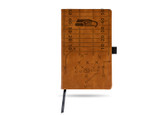 Seattle Seahawks Laser Engraved Brown Notepad With Elastic Band