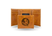 Florida State Seminoles Laser Engraved Brown Trifold Wallet