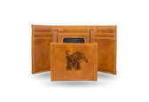 Memphis Tigers Laser Engraved Brown Trifold Wallet