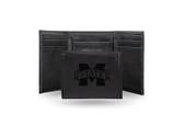 Mississippi State Bulldogs Laser Engraved Black Trifold Wallet