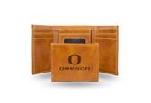 Oregon Ducks Laser Engraved Brown Trifold Wallet