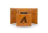 Arizona Diamondbacks Laser Engraved Brown Trifold Wallet