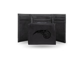 Orlando Magic Laser Engraved Black Trifold Wallet