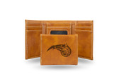 Orlando Magic Laser Engraved Brown Trifold Wallet