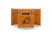 Phoenix Suns Laser Engraved Brown Trifold Wallet