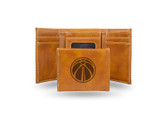 Washington Wizards Laser Engraved Brown Trifold Wallet