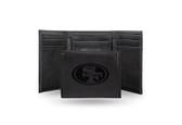 San Francisco 49ers Laser Engraved Black Trifold Wallet