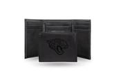 Jacksonville Jaguars Laser Engraved Black Trifold Wallet