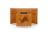 Detroit Lions Laser Engraved Brown Trifold Wallet