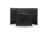 Anaheim Ducks  Laser Engraved Black Trifold Wallet