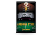 Arizona State Sun Devils 11X17 Large Embossed Metal Wall Sign
