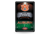 Auburn Tigers 11X17 Large Embossed Metal Wall Sign