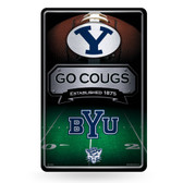 BYU Cougars 11X17 Large Embossed Metal Wall Sign