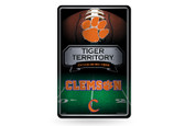 Clemson Tigers 11X17 Large Embossed Metal Wall Sign