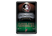 Florida State Seminoles 11X17 Large Embossed Metal Wall Sign