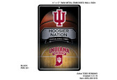 Indiana Hoosiers 11X17 Large Embossed Metal Wall Sign