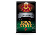 Iowa State Cyclones 11X17 Large Embossed Metal Wall Sign
