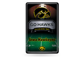 Iowa Hawkeyes 11X17 Large Embossed Metal Wall Sign