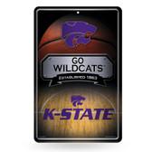 Kansas State Wildcats 11X17 Large Embossed Metal Wall Sign