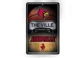 Louisville Cardinals 11X17 Large Embossed Metal Wall Sign