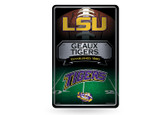 LSU Tigers 11X17 Large Embossed Metal Wall Sign