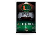 Miami Hurricanes 11X17 Large Embossed Metal Wall Sign