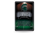 Michigan State Spartans 11X17 Large Embossed Metal Wall Sign