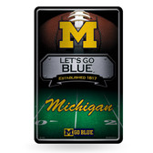 Michigan Wolverines 11X17 Large Embossed Metal Wall Sign