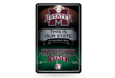 Mississippi State Bulldogs 11X17 Large Embossed Metal Wall Sign