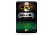 Missouri Tigers 11X17 Large Embossed Metal Wall Sign