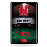 Nebraska Cornhuskers 11X17 Large Embossed Metal Wall Sign