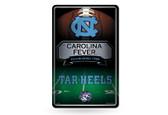 North Carolina Tar Heels 11X17 Large Embossed Metal Wall Sign