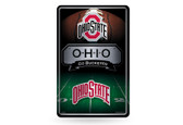 Ohio State Buckeyes 11X17 Large Embossed Metal Wall Sign
