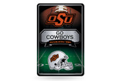 Oklahoma State Cowboys 11X17 Large Embossed Metal Wall Sign