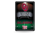 Oklahoma Sooners 11X17 Large Embossed Metal Wall Sign