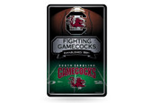 South Carolina Gamecocks 11X17 Large Embossed Metal Wall Sign