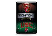 USC Trojans 11X17 Large Embossed Metal Wall Sign