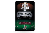 Texas A&M Aggies 11X17 Large Embossed Metal Wall Sign
