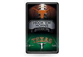 Texas Longhorns 11X17 Large Embossed Metal Wall Sign