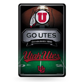 Utah Utes 11X17 Large Embossed Metal Wall Sign