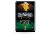West Virginia Mountaineers 11X17 Large Embossed Metal Wall Sign