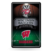 Wisconsin Badgers 11X17 Large Embossed Metal Wall Sign