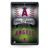 Los Angeles Angels 11X17 Large Embossed Metal Wall Sign