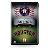 Houston Astros 11X17 Large Embossed Metal Wall Sign