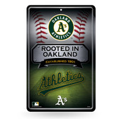 Oakland Athletics 11X17 Large Embossed Metal Wall Sign