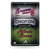 Atlanta Braves 11X17 Large Embossed Metal Wall Sign